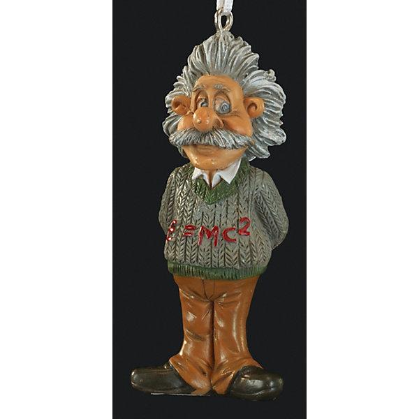 Украшение Эйнштейн 7,5 смЁлочные игрушки<br>Характеристики:<br><br>• количество: 1 шт.;<br>• вес: 34 гр.;<br>• размер: 7,5х3х2 см;<br>• страна бренда: Россия.<br><br>Фигурка «Эйнштейн» Erich Krause изображает великого ученого XX века и станет отличным сувениром для его поклонников. На свитере Эйнштейна написана его знаменитая формула о массе и энергии. Элементы фигурки имеют высокую детализацию. Имеется петелька для крепления ленточки.<br><br>Украшение «Эйнштейн» 7,5 см можно купить в нашем интернет-магазине.<br><br>Ширина мм: 75<br>Глубина мм: 30<br>Высота мм: 20<br>Вес г: 34<br>Возраст от месяцев: 84<br>Возраст до месяцев: 2147483647<br>Пол: Унисекс<br>Возраст: Детский<br>SKU: 7435954