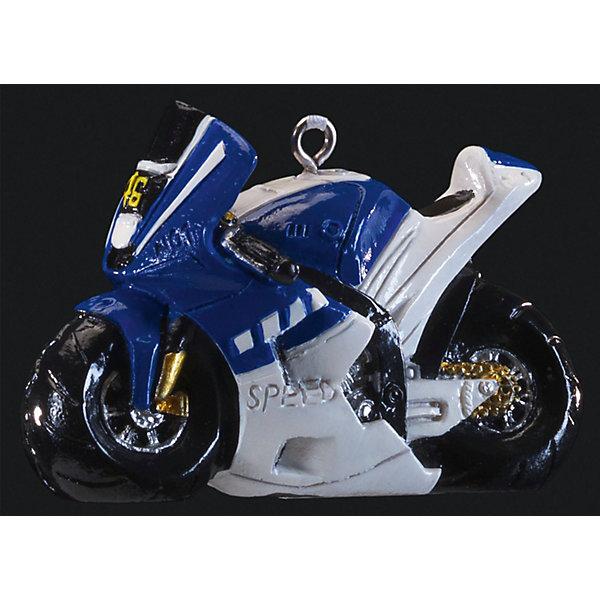 Украшение Байк 6,5 смЁлочные игрушки<br>Характеристики:<br><br>• количество: 1 шт.;<br>• вес: 46 гр.;<br>• размер: 6,5х4х2 см;<br>• страна бренда: Россия.<br><br>«Байк» Erich Krause — оригинальное подвесное украшение в виде сине-белого мотоцикла. Фигурка покрыта насыщенными стойкими красками, имеется петелька для шнурка. Сувенир можно подвесить или поставить на рабочем столе.<br><br>Украшение «Байк» 6 см можно купить в нашем интернет-магазине.<br>Ширина мм: 65; Глубина мм: 40; Высота мм: 20; Вес г: 46; Возраст от месяцев: 84; Возраст до месяцев: 2147483647; Пол: Мужской; Возраст: Детский; SKU: 7435960;