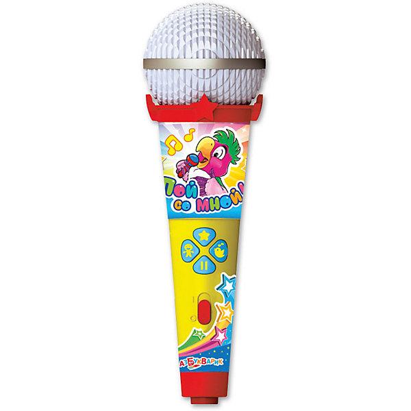 Микрофон Азбукварик Пой со мной Танцевальные хитыМикрофоны<br>Характеристики товара:<br><br>• ISBN:4680019281636;<br>• возраст: от 3 лет;<br>• тип батареек: 1 x AAA / LR0.3 1.5V (мизинчиковые);<br>• наличие батареек: входят в комплект;<br>• состав: металл, пластик;<br>• размер упаковки: 25 х 16.3 х 6.1 см.;<br>• размер игрушки: 19 x 6 x 5.5 см.;<br>• вес: 140 гр.;<br>• упаковка: блистер на картоне;<br>• бренд: Азбукварик.<br>• страна обладатель бренда: Россия.<br><br>Игрушка-микрофон «Танцевальные хиты» из серии  «Пой со мной!» от российского бренда Азбукварик - это веселое караоке, которое легко превращается в настоящий музыкальный концерт.<br><br>Такую интересную игрушку ребенок может взять с собой куда угодно, а заводные песенки из мультфильмов будут радовать и развлекать малыша. Ребенок станет охотно подпевать песенкам из любимых мультиков, что также будет стимулировать его слух и память. Микрофон оснащен подсветкой, которая будет ярко мигать во время песни. <br><br>Слушай 15 детских хитов («Звезды континентов», «Чунга-чанга», «Тридцать три коровы», «Антошка» и др.), танцуй и подпевай любимым героям. Весёлое пение с микрофоном раскроет музыкальные и актёрские таланты малыша. А мобильное приложение от Азбукварика подарит ещё больше веселья! Скачай книжку «Караоке» с помощью бонусного QR-кода на упаковке. <br> <br>Игрушку-микрофон «Танцевальные хиты» от Азбукварик  можно купить в нашем интернет-магазине.<br>Ширина мм: 130; Глубина мм: 222; Высота мм: 50; Вес г: 140; Возраст от месяцев: 36; Возраст до месяцев: 72; Пол: Унисекс; Возраст: Детский; SKU: 7436742;