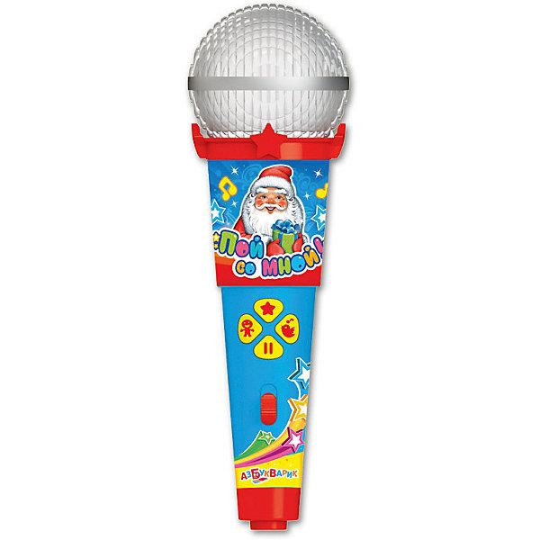 Микрофон Азбукварик Пой со мной Новогодние песенкиМикрофоны<br>Характеристики товара:<br><br>• ISBN:4680019281605;<br>• возраст: от 3 лет;<br>• тип батареек: 1 x AAA / LR0.3 1.5V (мизинчиковые);<br>• наличие батареек: входят в комплект;<br>• состав: металл, пластик;<br>• размер упаковки: 25 х 16.3 х 6.1 см.;<br>• размер игрушки: 19 x 6 x 5.5 см.;<br>• вес: 140 гр.;<br>• упаковка: блистер на картоне;<br>• бренд: Азбукварик.<br>• страна обладатель бренда: Россия.<br><br>Игрушка-микрофон «Новогодние песенки» из серии  «Пой со мной!» от российского бренда Азбукварик - это веселое караоке, которое легко превращается в настоящий музыкальный концерт и сможет порадовать всех ребятишек, подарив хорошее настроение в преддверии долгожданного праздника.<br><br>Такую интересную игрушку ребенок может взять с собой куда угодно, а заводные песенки из мультфильмов будут радовать и развлекать малыша. Ребенок станет охотно подпевать песенкам из любимых мультиков, что также будет стимулировать его слух и память. Микрофон оснащен подсветкой, которая будет ярко мигать во время песни. <br><br>Он умеет воспроизводить 15 веселых песенок, ребенку не составит труда заучить слова различных песенок, чтобы затем начать подпевать.А мобильное приложение от Азбукварика подарит ещё больше веселья! Скачай книжку «Караоке» с помощью бонусного QR-кода на упаковке. <br> <br>Игрушку-микрофон «Новогодние песенки» от Азбукварик  можно купить в нашем интернет-магазине.<br>Ширина мм: 130; Глубина мм: 222; Высота мм: 50; Вес г: 140; Возраст от месяцев: 36; Возраст до месяцев: 72; Пол: Унисекс; Возраст: Детский; SKU: 7436743;