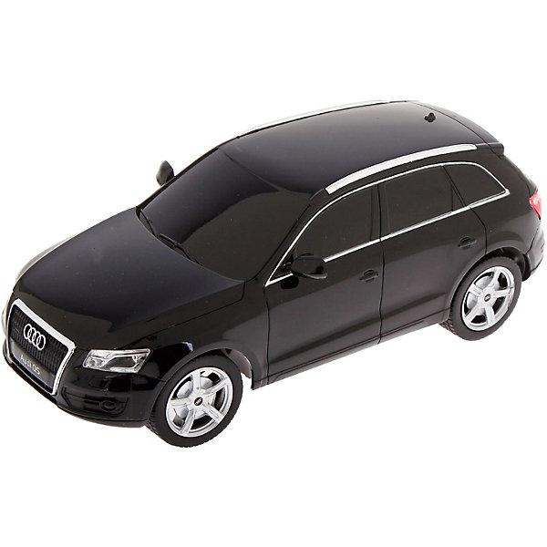 Радиоуправляемая машина Rastar Audi Q5, 1:24 (черная)Радиоуправляемые машины<br>Характеристики товара:<br><br>• серия: Audi Q5;<br>• возраст: от 6 лет;<br>• цвет: черный;<br>• масштаб: 1:24;<br>• машина; <br>• пульт дистанционного управления;<br>• инструкция;<br>• наличие батареек: не входят в комплект;<br>• тип батареек: 5 х AA / LR6 1.5V (пальчиковые);<br>• дальность действия: 15-45 м.;<br>• из чего сделана игрушка (состав): высококачественная пластмасса, металл;<br>• размер упаковки: 28,5х14х12 см;<br>• вес: 0,41 кг.;<br>• частота: 27 MHz;<br>• максимальная скорость: 7 км/ч.;<br>• упаковка: картонная коробка с блистером.<br><br>Радиоуправляемая машина Audi Q5 от производителя Rastar, выполнена в черном цвете, придающем игрушке элегантность и презентабельность. Машинка выполнена в масштабе 1:24, поэтому ее дизайн соответствует формам и пропорциям настоящего автомобиля. Игрушечный седан Audi Q5 может ехать вперед и назад, поворачивая вправо и влево. Во время движения у машинки включаются фары. <br><br>Управление скоростью и направлением движения игрушки осуществляется при помощи пульта. <br><br>Корпус машинки изготовлен из металл, фары, стекла и другие элементы - из пластика. <br><br>Машину Audi Q5 1:24, на радио управлении, RASTAR можно купить в нашем интернет-магазине.<br><br>Ширина мм: 285<br>Глубина мм: 140<br>Высота мм: 120<br>Вес г: 410<br>Возраст от месяцев: 72<br>Возраст до месяцев: 2147483647<br>Пол: Мужской<br>Возраст: Детский<br>SKU: 7439715