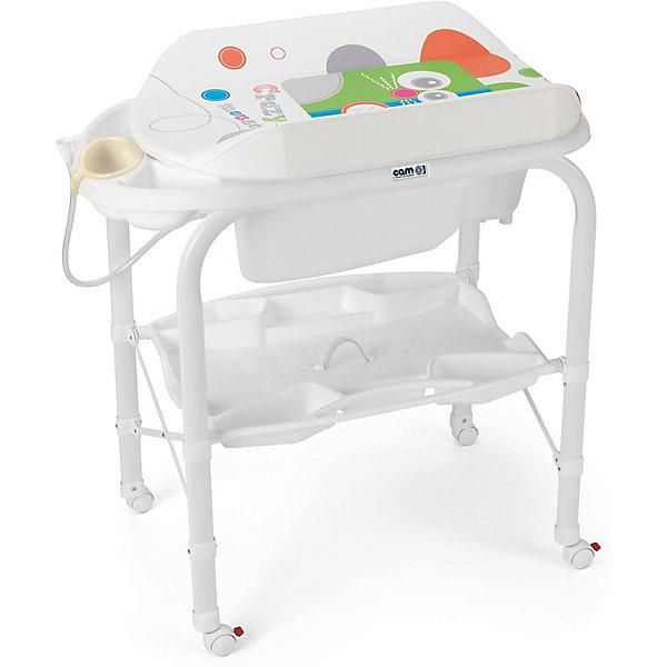 Пеленальный столик Cam Cambio Crazy mouseПеленальные столы<br>Характеристики:<br><br>• предназначен для детей с рождения до 12 месяцев;<br>• материал: пластик, металл, ПВХ;<br>• изготовлен из экологически чистых материалов;<br>• металлический каркас с закругленными углами;<br>• съемный мягкий пеленальный матрасик с системой безопасного крепления;<br>• анатомическая ванночка;<br>• может использоваться в 2-х позициях: для малышей 0 - 6 месяцев и 6 – 12 месяцев;<br>• оснащен подносом для губки, мыла и отверстием для подвода воды через трубку;<br>• 4 ножки на колесах с тормозами;<br>• легко моется.<br><br>Удобное приспособление помогает в уходе за малышом. Ребенок может безопасно находиться на пеленальном столике, пока мама его одевает, делает массаж или проводит гигиенические процедуры.<br><br>Глубокая ванночка с полочкой для мыла и других принадлежностей облегчает купание ребенка. Можно аккуратно мыть ребенка, не наклоняясь и не напрягая спину. Колеса позволяют легко передвигать пеленальный столик на удобное место, а тормоза фиксируют ножки.<br><br>Светлая цветовая гамма отлично впишется в интерьер детской комнаты.<br><br>Габариты:<br><br>• в разложенном виде:95х54x104 см;<br>• в сложенном виде: 83х31х93 см.<br><br>Вес: 10,8 кг.<br>Вес в упаковке: 12 кг.<br><br>Пеленальный столик Cambio Crazy mouse, Cam можно приобрести в нашем интернет-магазине.<br>Ширина мм: 800; Глубина мм: 209; Высота мм: 965; Вес г: 10800; Цвет: белый; Возраст от месяцев: 0; Возраст до месяцев: 12; Пол: Унисекс; Возраст: Детский; SKU: 7441099;