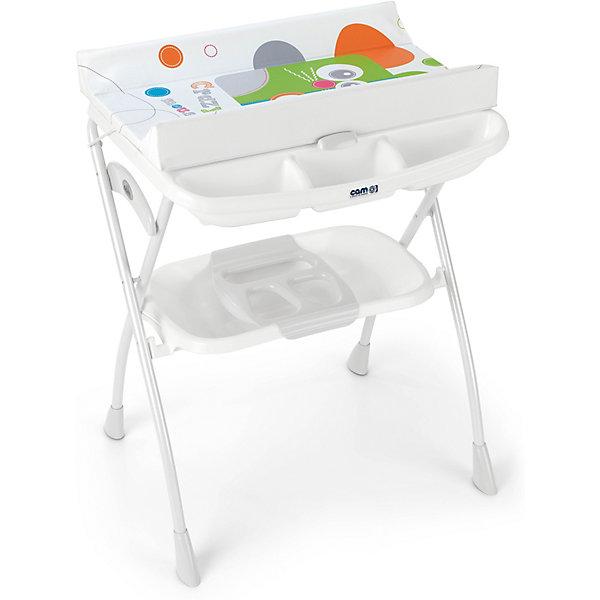 Пеленьный столик Cam Volare Crazy mouseПеленальные столы<br>Характеристики:<br><br>• предназначен для детей с рождения до 12 месяцев;<br>• материал: пластик, металл, ПВХ;<br>• изготовлен из экологически чистых материалов;<br>• металлический каркас с закругленными углами;<br>• съемный мягкий пеленальный матрасик с системой безопасного крепления;<br>• анатомическая ванночка;<br>• может использоваться в 2-х позициях: для малышей 0 - 6 месяцев и 6 – 12 месяцев;<br>• оснащен подносом для губки, мыла и отверстием для подвода воды через трубку;<br>• 4 ножки с нескользящим покрытием;<br>• легко моется.<br><br>Удобное приспособление помогает в уходе за малышом. Ребенок может безопасно находиться на пеленальном столике, пока мама его одевает, делает массаж или проводит гигиенические процедуры.<br><br>Глубокая ванночка с полочкой для мыла и других принадлежностей облегчает купание ребенка. Можно аккуратно мыть ребенка, не наклоняясь и не напрягая спину. Светлая цветовая гамма отлично впишется в интерьер детской комнаты.<br><br>Габариты:<br><br>• в разложенном виде:78х66x103 см;<br>• в сложенном виде: 78х22х110 см.<br><br>Вес: 8,1 кг.<br>Вес в упаковке: 10,1 кг.<br><br>Пеленальный столик Volare Crazy mouse, Cam можно приобрести в нашем интернет-магазине.<br><br>Ширина мм: 1090<br>Глубина мм: 195<br>Высота мм: 810<br>Вес г: 10320<br>Цвет: белый<br>Возраст от месяцев: 0<br>Возраст до месяцев: 12<br>Пол: Унисекс<br>Возраст: Детский<br>SKU: 7441104