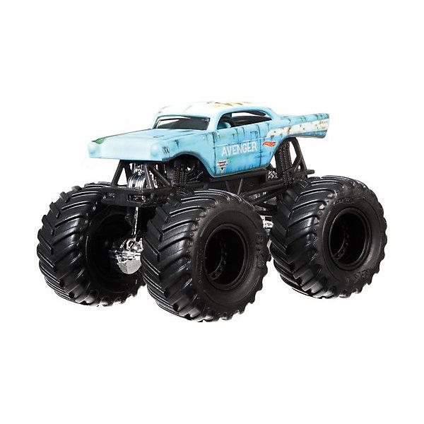 Машинка Hot Wheels Monster Jam AvengerМашинки<br>Характеристики:<br><br>• модель в масштабе 1:64;<br>• огромные колеса;<br>• протекторы шин;<br>• агрессивный дизайн;<br>• машинка преодолевает препятствия;<br>• гонки в экстремальных условиях;<br>• удароустойчивые машинки;<br>• длина машинки: 12 см;<br>• материал: пластик;<br>• размер упаковки: 17,5х6,5х14 см;<br>• вес: 130 г.<br><br>Игрушечные машинки Хот Виллс на огромных колесах участвуют в гонках, способны преодолевать препятствия, быстро разгоняются. Машинки с детализацией могут стать коллекцией юного гонщика. Каждая модель Monster Jam имеет свой дизайн, цвет и специфику.  <br><br>Машинку 1:64, Monster Jam, Hot Wheels можно купить в нашем интернет-магазине.<br>Ширина мм: 65; Глубина мм: 140; Высота мм: 175; Вес г: 130; Возраст от месяцев: 36; Возраст до месяцев: 96; Пол: Мужской; Возраст: Детский; SKU: 7441228;