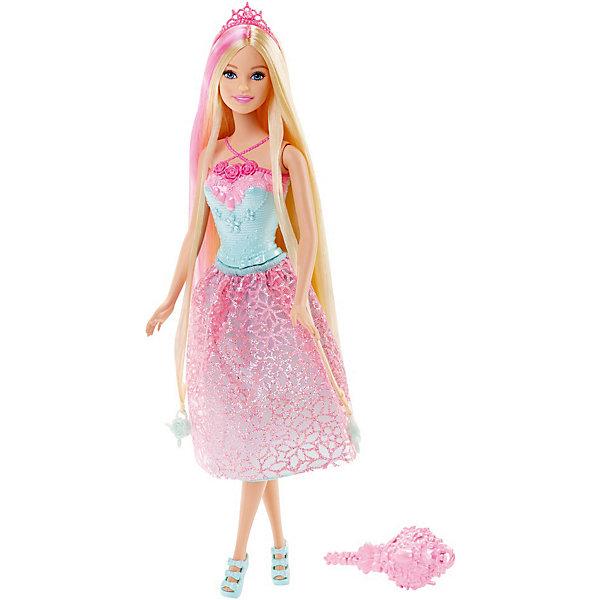 Кукла Принцесса, BarbieБренды кукол<br>Характеристики:<br><br>• возраст: от 3 лет;<br>• материал: пластик, текстиль;<br>• высота куклы: 30 см;<br>• длина волос: 20 см;<br>• в наборе: кукла, расческа, аксессуары;<br>• вес упаковки: 300 гр.;<br>• размер упаковки: 32х6х13 см;<br>• страна бренда: США.<br><br><br>Куклу «Принцесса», Barbie можно купить в нашем интернет-магазине.<br>Ширина мм: 329; Глубина мм: 114; Высота мм: 58; Вес г: 175; Возраст от месяцев: 36; Возраст до месяцев: 72; Пол: Женский; Возраст: Детский; SKU: 7441231;