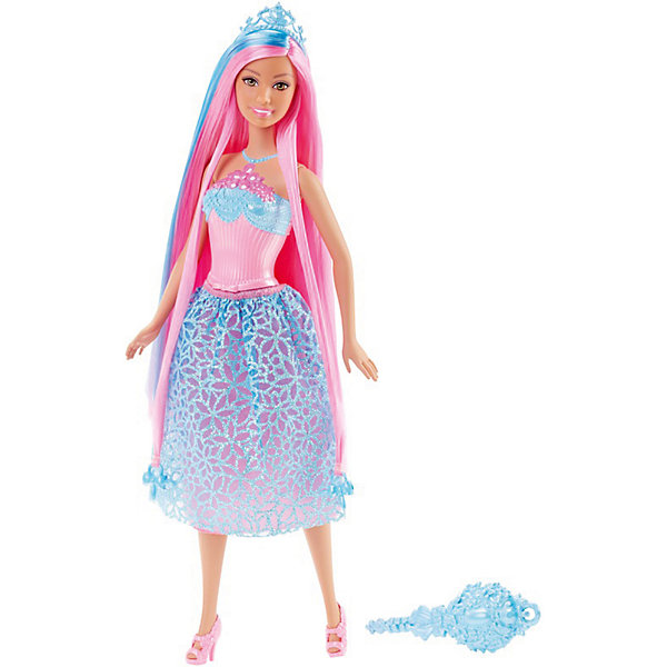 Кукла Принцесса, BarbieКуклы<br>Характеристики:<br><br>• возраст: от 3 лет;<br>• материал: пластик, текстиль;<br>• высота куклы: 30 см;<br>• длина волос: 20 см;<br>• в наборе: кукла, расческа, аксессуары;<br>• вес упаковки: 300 гр.;<br>• размер упаковки: 32х6х13 см;<br>• страна бренда: США.<br><br>Кукла Barbie «Принцесса» обладает шикарными розовыми волосами, из которыхможно собирать всевозможные прически. Девочка будет в восторге! Кукла одета в наряд нежных оттенков. На теле несъемный пластиковый корсет и тканевая юбочка. Голову игрушки украшает голубая диадема.<br><br>Куклу «Принцесса» с розовыми волосами, Barbie можно купить в нашем интернет-магазине.<br>Ширина мм: 329; Глубина мм: 114; Высота мм: 58; Вес г: 175; Возраст от месяцев: 36; Возраст до месяцев: 72; Пол: Женский; Возраст: Детский; SKU: 7441232;