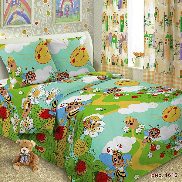 Детское постельное белье 1,5 сп Letto ПчелаДетское постельное бельё<br>Характеристики:<br><br>• возраст: 3+;<br>• тип: детское постельное белье;<br>• материал: 100% хлопок (бязь);<br>• цвет: зеленый, желтый, синий;<br>• пол: для мальчиков, для девочек;<br>• комплект: 3 предмета;<br>• пододельяник: 147х210 см – 1 шт.;<br>• простынь: 150х210 см – 1 шт.;<br>Ширина мм: 300; Глубина мм: 370; Высота мм: 50; Вес г: 1500; Цвет: зеленый; Возраст от месяцев: 36; Возраст до месяцев: 2147483647; Пол: Унисекс; Возраст: Детский; SKU: 7441578;