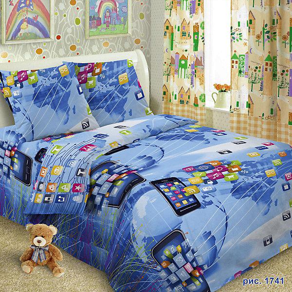 Детское постельное белье 1,5 сп Letto Смартфон, newДетское постельное бельё<br>Характеристики:<br><br>• возраст: 3+;<br>• тип: детское постельное белье;<br>• материал: 100% хлопок (бязь);<br>• цвет: синий;<br>• пол: для мальчиков;<br>• комплект: 3 предмета;<br>• пододельяник: 147х210 см – 1 шт.;<br>• простынь: 150х210 см – 1 шт.;<br>• наволочка: 50х70 см - 1 шт.<br>Ширина мм: 300; Глубина мм: 370; Высота мм: 50; Вес г: 1500; Цвет: синий; Возраст от месяцев: 36; Возраст до месяцев: 2147483647; Пол: Мужской; Возраст: Детский; SKU: 7441590;