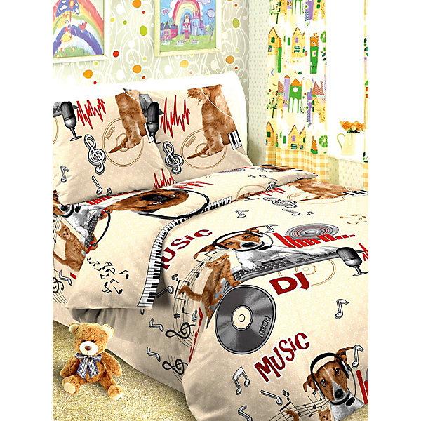 Детское постельное белье 1,5 сп Letto Собака диджейДетское постельное бельё<br>Характеристики:<br><br>• возраст: 3+;<br>• тип: детское постельное белье;<br>• материал: 100% хлопок (бязь);<br>• цвет: коричневый;<br>• пол: для мальчиков;<br>• комплект: 3 предмета;<br>• пододельяник: 147х210 см – 1 шт.;<br>• простынь: 150х210 см – 1 шт.;<br>• наволочка: 50х70 см -<br>Ширина мм: 300; Глубина мм: 370; Высота мм: 50; Вес г: 1500; Цвет: бежевый; Возраст от месяцев: 36; Возраст до месяцев: 2147483647; Пол: Унисекс; Возраст: Детский; SKU: 7441596;