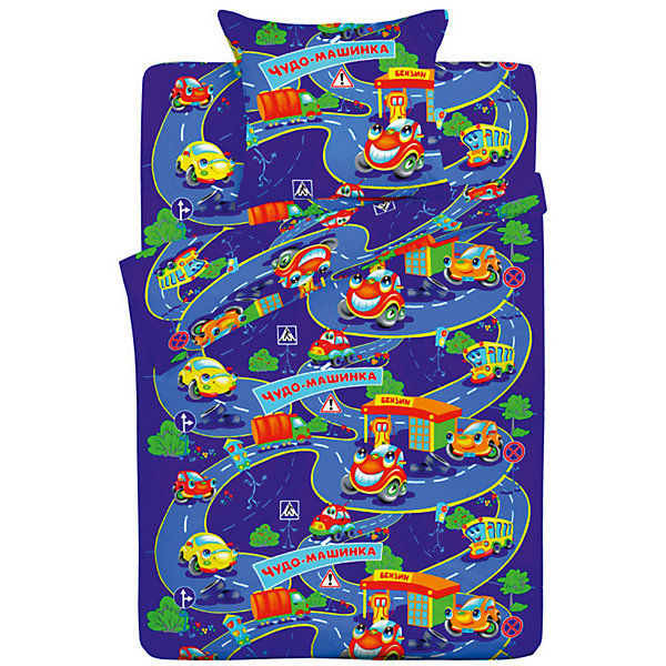 Детское постельное белье 1,5 сп Letto Чудо-машинкаДетское постельное бельё<br>Характеристики:<br><br>• возраст: 3+;<br>• тип: детское постельное белье;<br>• материал: 100% хлопок (бязь);<br>• цвет: синий;<br>• пол: для мальчиков;<br>• комплект: 3 предмета;<br>• пододельяник: 147х210 см – 1 шт.;<br>• простынь: 150х210 см – 1 шт.;<br>• наволочка: 50х70 см - 1 шт.<br>Ширина мм: 300; Глубина мм: 370; Высота мм: 50; Вес г: 1500; Цвет: синий; Возраст от месяцев: 36; Возраст до месяцев: 2147483647; Пол: Мужской; Возраст: Детский; SKU: 7441614;