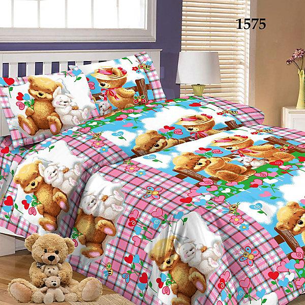 Детское постельное белье 1,5 сп Letto Мишки и зайкаДетское постельное бельё<br>Характеристики:<br><br>• возраст: 3+;<br>• тип: детское постельное белье;<br>• материал: 100% хлопок (бязь);<br>• цвет: голубой, розовый, коричневый;<br>• пол: для мальчиков. для девочек;<br>• комплект: 3 предмета;<br>• пододельяник: 147х210 см – 1 шт.;<br>• простынь: 150х210 см –<br>Ширина мм: 300; Глубина мм: 370; Высота мм: 50; Вес г: 1500; Цвет: фиолетовый; Возраст от месяцев: 36; Возраст до месяцев: 2147483647; Пол: Унисекс; Возраст: Детский; SKU: 7441640;