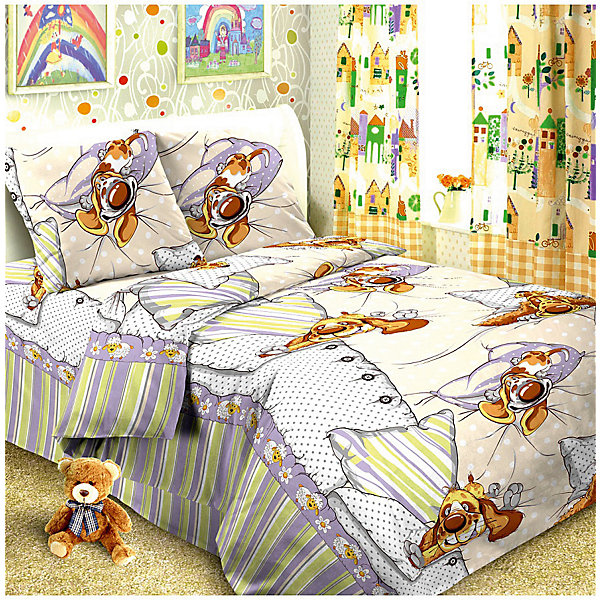 Детское постельное белье 1,5 сп Letto Собаки спятДетское постельное бельё<br>Характеристики:<br><br>• возраст: 3+;<br>• тип: детское постельное белье;<br>• материал: 100% хлопок (бязь);<br>• цвет: бежевый, фиолетовый;<br>• пол: для мальчиков, для девочек;<br>• комплект: 3 предмета;<br>• пододельяник: 147х210 см – 1 шт.;<br>• простынь: 150х210 см – 1 шт.;<br>•<br>Ширина мм: 300; Глубина мм: 370; Высота мм: 50; Вес г: 1500; Цвет: серый; Возраст от месяцев: 36; Возраст до месяцев: 2147483647; Пол: Унисекс; Возраст: Детский; SKU: 7441654;