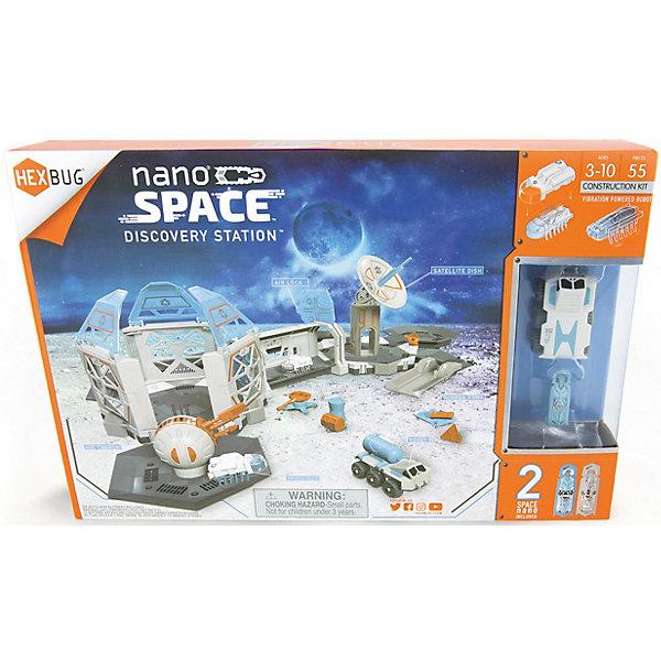 Игрушечный трек Hexbug Космическое путешествие  Нано. Исследовательская  станцияАвтотреки<br>Характеристики:<br><br>• возраст ребенка: от 3 до 10 лет;<br>• количество деталей: 55 шт.;<br>• в комплекте 2 микроробота нано;<br>• питание 2 шт. LR44 (AG13, RW82, V13GA);<br>• материал: пластик;<br>• размер упаковки: 38х25х7 см;<br>• вес: 825 г.<br><br>Игровой набор возлагает на ребят миссию по изучению и освоению космических просторов. Вездеход используется для того, чтоб бороздить твердые поверхности. Нано-роботы в специальных скафандрах изучают воздушные пространства. Связь с домом поддерживается благодаря спутниковой тарелке, которая передает полученные данные в ходе исследований. Ионная пушка защищает станцию от непрошенных гостей.  <br><br>Игрушечный трек Hexbug «Космическое путешествие Нано. Исследовательская  станция» можно купить в нашем интернет-магазине.<br>Ширина мм: 382; Глубина мм: 68; Высота мм: 255; Вес г: 825; Возраст от месяцев: 36; Возраст до месяцев: 84; Пол: Унисекс; Возраст: Детский; SKU: 7442880;