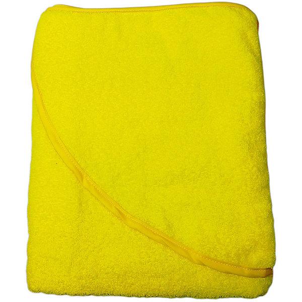 Купить Махровое полотенце с уголком Baby Swimmer 100х100, желтое, Россия, желтый, Унисекс