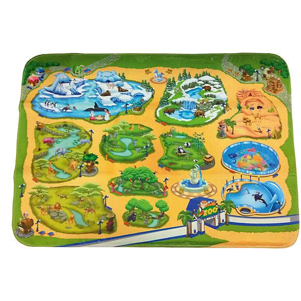 Игровой коврик Teplokid ЗоопаркДетские ковры<br>Характеристики:<br><br>• вес: 1,320кг.;<br>• упаковка: сумочка-чехол;<br>• размер коврика: 180х130 см;<br>• размер упаковки: 46х42,5х50см.;<br>• материал: полиэстер.;<br>• для детей в возрасте: от 3лет.;<br>• страна производитель: Россия.<br><br>Игровой коврик «Зоопарк» бренда «Teplokid» (Теплокид) станет отличным приобретением для маленьких мальчишек и девчонок. Он создан из высококачественных, экологически чистых материалов, что очень важно для детских товаров.<br><br> Это макет настоящего зоопарка, по которому можно путешествовать и изучать разных зверей. Коврик имеет большую игровую поверхность (180х130см.) и высокие теплоизолирующие свойства, что особенно полезно в холодное время года.<br><br> Играя дети развивают фантазию, мелкую моторику, придумывают разные истории и просто весело проводят время.<br>                                     <br>Игровой коврик «Зоопарк» бренда «Teplokid» (Теплокид)  можно купить в нашем интернет-магазине.<br>Ширина мм: 1800; Глубина мм: 1300; Высота мм: 80; Вес г: 1410; Цвет: gelb/gr?n; Возраст от месяцев: 0; Возраст до месяцев: 48; Пол: Унисекс; Возраст: Детский; SKU: 7448393;