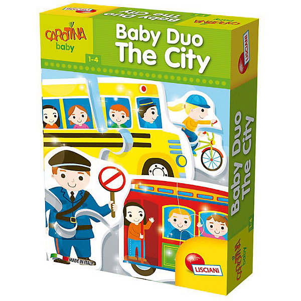 Паззл для самых маленьких «В ГОРОДЕ», LiscianiПазлы для малышей<br>Характеристики товара:<br><br>• возраст: от 1 года;<br>• количество картинок: 15;<br>• количество элементов: 30;<br>• материал: картон;<br>• размер упаковки: 6х18х25 см;<br>• страна бренда: Италия.<br><br>Пазл «В городе» содержит 15 картинок, состоящих из 30 пазлов. Собирая пазлы, малыш познакомится с жизнью городов: транспорт, строения, профессии и многое другое. Картинки выполнены в ярких цветах, чтобы малышу было интересно заниматься. Такая игра хорошо развивает логическое мышление, мелкую моторику, воображение, а также расширяет кругозор и способствует пополнению словарного запаса.<br><br>Паззл для самых маленьких «В городе», Lisciani (Лисциани) можно купить в нашем интернет-магазине.<br><br>Ширина мм: 255<br>Глубина мм: 188<br>Высота мм: 60<br>Вес г: 998<br>Возраст от месяцев: 12<br>Возраст до месяцев: 2147483647<br>Пол: Унисекс<br>Возраст: Детский<br>SKU: 7450871