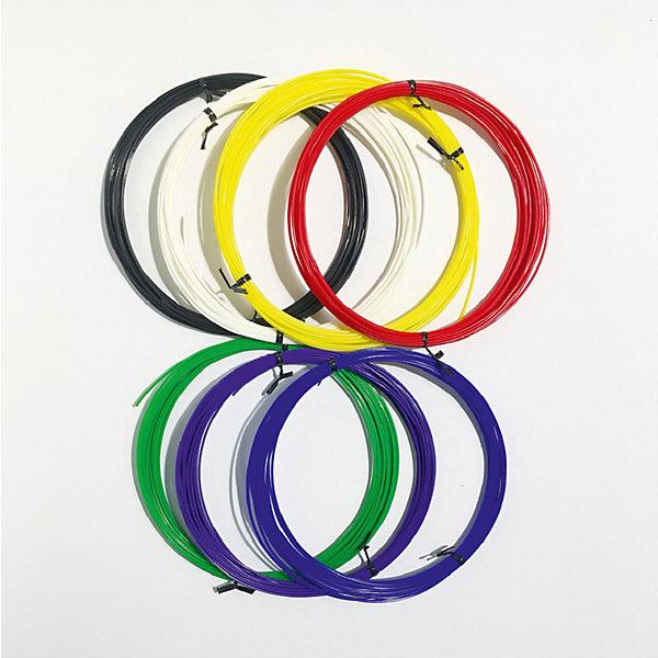 Набор ABS пластика 3D Фантазер, 1,75 мм, 7 цветов по 10 метровПластик для 3D ручек<br>Характеристики и комплектация товара:<br>Тип пластика: ABS   <br>Диаметр нити: 1.75 мм  <br>Температура плавления: 210-240 гр.С <br>Комплект: 7 мотков по 10 метров <br>Цвета: красный, синий, зеленый, желтый, белый, черный, фиолетовый<br>Инструкция по использованию пластика <br>Страна производства: Россия  <br>    <br>Набор ABS пластика 3D ФАНТАЗЕР создан для использования в 3D ручках.<br>Этот инновационный материал для детского творчества поможет<br>полностью оценить преимущества данной технологии будущего. При нагреве пластик<br>примет любую форму, какую только захочет юный фантазер. Пластик сделан только из <br>качественных материалов, а его яркие цвета сделают поделку жизнерадостной и еще <br>больше увлекут юного художника в процесс.<br>Ширина мм: 23; Глубина мм: 22; Высота мм: 4; Вес г: 265; Возраст от месяцев: 96; Возраст до месяцев: 2147483647; Пол: Унисекс; Возраст: Детский; SKU: 7451116;