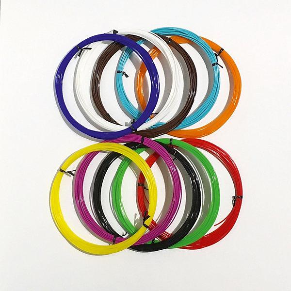 Набор PLA пластика 3D Фантазер, 1,75 мм, 10 цветов по 5 метровПластик для 3D ручек<br>Характеристики и комплектация товара: <br>Тип пластика: PLA    <br>Диаметр нити: 1.75 мм   <br>Температура плавления: 190-200 гр.С  <br>Комплект: 10 мотков по 5 метров  <br>Цвета:  красный, синий, зеленый, желтый, белый, черный, сиреневый, оранжевый, <br>бирюзовый, коричневый.   <br>Инструкция по использованию пластика  <br>Страна производства: Россия   <br>     <br>Набор PLA пластика 3D ФАНТАЗЕР создан для использования в 3D ручках.<br>Этот инновационный материал для детского творчества поможет<br>полностью оценить преимущества данной технологии будущего. При нагреве пластик<br>примет любую форму, какую только захочет юный фантазер. Пластик сделан только из <br>качественных материалов, а его яркие цвета сделают поделку жизнерадостной и еще <br>больше увлекут юного художника в процесс.<br>Ширина мм: 23; Глубина мм: 22; Высота мм: 4; Вес г: 250; Возраст от месяцев: 96; Возраст до месяцев: 2147483647; Пол: Унисекс; Возраст: Детский; SKU: 7451120;