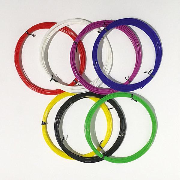 Набор PLA пластика 3D Фантазер, 1,75 мм, 7 цветов по 10 метровПластик для 3D ручек<br>Характеристики и комплектация товара:<br>Тип пластика: PLA   <br>Диаметр нити: 1.75 мм  <br>Температура плавления: 190-200 гр.С <br>Комплект: 7 мотков по 10 метров <br>Цвета:  красный, синий, зеленый, желтый, белый, черный, сиреневый.<br>Инструкция по использованию пластика <br>Страна производства: Россия  <br>    <br>Набор PLA пластика 3D ФАНТАЗЕР создан для использования в 3D ручках.<br>Этот инновационный материал для детского творчества поможет<br>полностью оценить преимущества данной технологии будущего. При нагреве пластик<br>примет любую форму, какую только захочет юный фантазер. Пластик сделан только из <br>качественных материалов, а его яркие цвета сделают поделку жизнерадостной и еще <br>больше увлекут юного художника в процесс.<br>Ширина мм: 23; Глубина мм: 22; Высота мм: 4; Вес г: 350; Возраст от месяцев: 96; Возраст до месяцев: 2147483647; Пол: Унисекс; Возраст: Детский; SKU: 7451121;