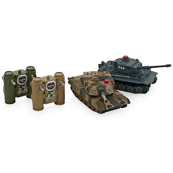 Танковый бой HuanQi 508CРадиоуправляемые танки<br>Характеристики:  <br>Масштаб 1:32  <br>Пульт управления: 2.4G <br>Имитация звука выстрела,<br>Имитация работы двигателя<br>Инфракрасный луч  <br>аккумулятор:  4.8V Ni-Cd <br>   <br>Комплект поставки: <br>Танк Тигр - 1 шт.  <br>Танк Леопард - 1 шт. <br>Пульт управления 2.4G - 2 шт.<br>Аккумулятор для танка - 2 шт.<br>Зарядное устройство - 2 шт. <br>Инструкция - 1 шт.  <br>   <br>Это обновленная версия легендарного танкового боя от компании HuanQi. Теперь танки имеют пульт управления с частотой 2.4G, что сделало управление более четким и позволяет играть до 12 игрокам одновременно.<br>Радиоуправляемый танковый бой Huan Qi 508-10 Tiger vs Leopard - хороший подарок любому мужчине, от мальчика до дедушки. В комплект входит не одна боевая машина, а сразу две. Их функциональность позволяет проводить полноценные бои по простым и понятным правилам. Модели имитируют работу мотора и звуки выстрелов. Они обладают хорошей проходимостью и могут ездить не только по ровным поверхностям. Танковые баталии можно устраивать и на площадках с препятствиями и укрытиями. Дома вы можете строить баррикады из книг и игрушек, а на улице перемещаться по пересеченной местности. Радиоуправляемый танковый бой Huan Qi Tiger vs Leopard выполнен в масштабе 1:32.<br>Ширина мм: 480; Глубина мм: 130; Высота мм: 300; Вес г: 1650; Возраст от месяцев: 96; Возраст до месяцев: 2147483647; Пол: Унисекс; Возраст: Детский; SKU: 7451140;