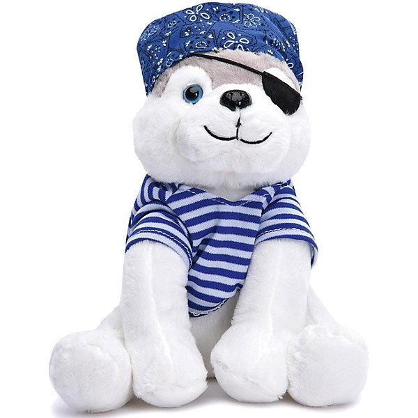 Мягкая игрушка Devilon Собачка Юджин, 24 см (пират)Символ года<br>Характеристики товара:<br><br>• высота игрушки: 24 см;<br>• возраст: от 3 лет;<br>• материал: плюш, синтепон;<br>• размер упаковки: 24х11х14 см;<br>• страна бренда: Россия.<br><br>Собачка Юджин - восхитительный подарок для юных капитанов. Собачка выглядит совсем, как настоящий пират: у нее полосатая тельняшка, бандана и пиратская повязка на глаз. У Юджина мягкое, приятное на ощупь тело, выполненное из экологически чистых материалов с наполнением из гипоаллергенного синтепона. Играя с мягкими игрушками, ребенок развивает воображение, моторику рук и тактильное восприятие.<br><br>Собачку Юджин 24 см, Девилон можно купить в нашем интернет-магазине.<br><br>Ширина мм: 110<br>Глубина мм: 140<br>Высота мм: 240<br>Вес г: 350<br>Возраст от месяцев: 36<br>Возраст до месяцев: 2147483647<br>Пол: Унисекс<br>Возраст: Детский<br>SKU: 7452440