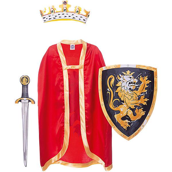 Набор Благородный рыцарь (Красный), Lion Touch (Щит,Меч,Плащ,Корона)Карнавальные костюмы для мальчиков<br>Характеристики товара:<br><br>• возраст: от 3 лет;<br>• материал: текстиль, EVA;<br>• в комплекте: корона, меч, щит, плащ;<br>• размер упаковки: 45х35х10 см;<br>• вес упаковки: 400 гр.;<br>• страна производитель: Китай.<br><br>Игровой набор «Благородный рыцарь» Lion Touch красный позволит мальчишкам почувствовать себя настоящими рыцарями и устроить с друзьями захватывающие поединки. Набор подойдет не только для праздников или карнавала, но и для обычных игр дома с друзьями. Меч выполнен из безопасных материалов и не нанесет травм во время игры.<br><br>Игровой набор «Благородный рыцарь» Lion Touch красный можно приобрести в нашем интернет-магазине.<br>Ширина мм: 450; Глубина мм: 350; Высота мм: 100; Вес г: 400; Возраст от месяцев: 36; Возраст до месяцев: 2147483647; Пол: Мужской; Возраст: Детский; SKU: 7454175;