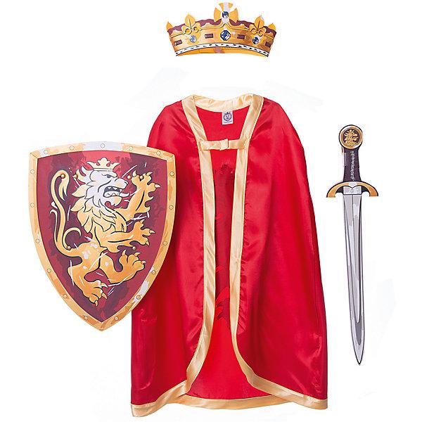 Набор Благородный рыцарь (Красный), Lion Touch (Щит,Меч,Плащ,Корона)Карнавальные костюмы для мальчиков<br>Характеристики товара:<br><br>• возраст: от 3 лет;<br>• материал: текстиль, EVA;<br>• в комплекте: корона, меч, щит, плащ;<br>• размер упаковки: 45х35х10 см;<br>• вес упаковки: 400 гр.;<br>• страна производитель: Китай.<br><br>Параметры изделия:<br>• длина - 73 см<br><br>Игровой набор «Благородный рыцарь» Lion Touch красный позволит мальчишкам почувствовать себя настоящими рыцарями и устроить с друзьями захватывающие поединки. Набор подойдет не только для праздников или карнавала, но и для обычных игр дома с друзьями. Меч выполнен из безопасных материалов и не нанесет травм во время игры.<br><br>Игровой набор «Благородный рыцарь» Lion Touch красный можно приобрести в нашем интернет-магазине.<br>Ширина мм: 450; Глубина мм: 350; Высота мм: 100; Вес г: 400; Возраст от месяцев: 36; Возраст до месяцев: 2147483647; Пол: Мужской; Возраст: Детский; SKU: 7454176;