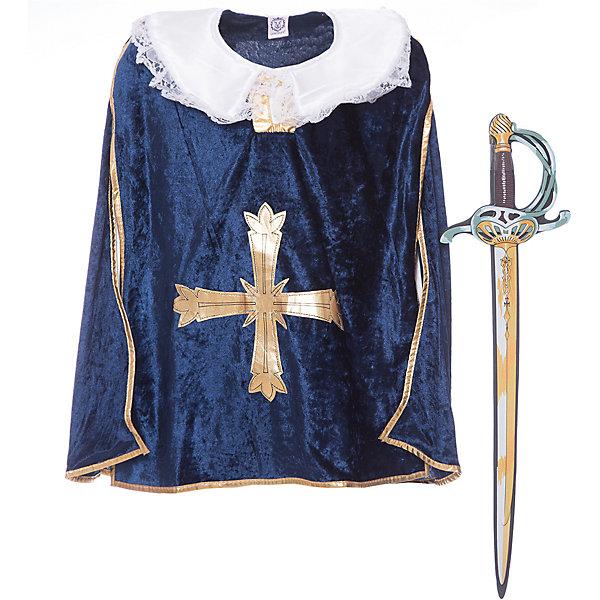 Набор Мушкетеры, Lion Touch (Плащ, Меч)Карнавальные костюмы для мальчиков<br>Характеристики товара:<br><br>• возраст: от 3 лет;<br>• материал: текстиль, EVA;<br>• в комплекте: меч, плащ;<br>• размер упаковки: 45х35х10 см;<br>• вес упаковки: 400 гр.;<br>• страна производитель: Китай.<br><br>Игровой набор «Мушкетеры» Lion Touch позволит мальчишкам почувствовать себя настоящими рыцарями и устроить с друзьями захватывающие поединки. Набор подойдет не только для праздников или карнавала, но и для обычных игр дома с друзьями. Меч выполнен из безопасных материалов и не нанесет травм во время игры.<br><br>Игровой набор «Мушкетеры» Lion Touch можно приобрести в нашем интернет-магазине.<br>Ширина мм: 450; Глубина мм: 350; Высота мм: 100; Вес г: 400; Возраст от месяцев: 36; Возраст до месяцев: 2147483647; Пол: Мужской; Возраст: Детский; SKU: 7454184;