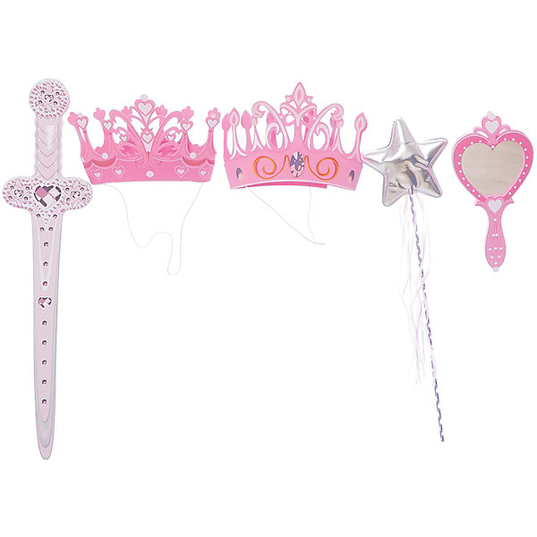 Набор для принцесс, Lion Touch (Корона-2шт., Меч, Зеркало, Волш. палочка)Карнавальные аксессуары для детей<br>Характеристики товара:<br><br>• возраст: от 3 лет;<br>• материал: EVA;<br>• в комплекте: 2 короны, меч, зеркало, волшебная палочка;<br>• размер упаковки: 45х35х10 см;<br>• вес упаковки: 400 гр.;<br>• страна производитель: Китай.<br><br>Набор для принцесс Lion Touch позволит девочкам почувствовать себя отважными принцессами. Набор подойдет не только для праздников или карнавала, но и для обычных игр дома с друзьями. Оружие выполнено из безопасных материалов и не нанесет травм во время игры.<br><br>Набор для принцесс Lion Touch можно приобрести в нашем интернет-магазине.<br>Ширина мм: 450; Глубина мм: 350; Высота мм: 100; Вес г: 400; Возраст от месяцев: 36; Возраст до месяцев: 2147483647; Пол: Женский; Возраст: Детский; SKU: 7454193;