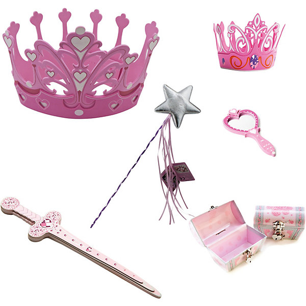 Набор для принцесс, Lion Touch (Корона-2шт., Меч, Зеркало, Волш. палочка, Сундучок)Карнавальные аксессуары для детей<br>Характеристики товара:<br><br>• возраст: от 3 лет;<br>• материал: EVA;<br>• в комплекте: 2 короны, меч, зеркало, волшебная палочка, сундучок;<br>• размер упаковки: 45х35х10 см;<br>• вес упаковки: 400 гр.;<br>• страна производитель: Китай.<br><br>Набор для принцесс Lion Touch позволит девочкам почувствовать себя отважными принцессами. Набор подойдет не только для праздников или карнавала, но и для обычных игр дома с друзьями. Оружие выполнено из безопасных материалов и не нанесет травм во время игры.<br><br>Набор для принцесс Lion Touch можно приобрести в нашем интернет-магазине.<br>Ширина мм: 450; Глубина мм: 350; Высота мм: 100; Вес г: 400; Возраст от месяцев: 36; Возраст до месяцев: 2147483647; Пол: Женский; Возраст: Детский; SKU: 7454194;