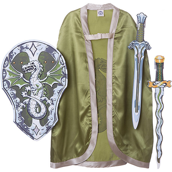 Набор Фэнтези, Дракон, Lion Touch (Меч, Щит,Меч, Плащ)Карнавальные костюмы для мальчиков<br>Характеристики товара:<br><br>• возраст: от 3 лет;<br>• материал: EVA;<br>• в комплекте: 2 меча, 2 щита;<br>• размер упаковки: 45х35х10 см;<br>• вес упаковки: 400 гр.;<br>• страна производитель: Китай.<br><br>Параметры изделия:<br>• длина - 73 см<br><br>Игровой набор «Фэнтези, дракон» Lion Touch позволит мальчишкам почувствовать себя настоящими рыцарями и устроить с друзьями захватывающие поединки. Набор подойдет не только для праздников или карнавала, но и для обычных игр дома с друзьями. Меч выполнен из безопасных материалов и не нанесет травм во время игры.<br><br>Игровой набор «Фэнтези, дракон» Lion Touch можно приобрести в нашем интернет-магазине.<br>Ширина мм: 450; Глубина мм: 350; Высота мм: 100; Вес г: 400; Возраст от месяцев: 36; Возраст до месяцев: 2147483647; Пол: Унисекс; Возраст: Детский; SKU: 7454204;