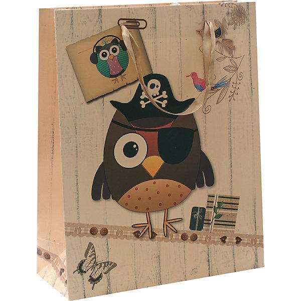 Пакет Сова-пират 26*32*12 смДетские подарочные пакеты<br>Характеристики товара:<br><br>• размер пакета: 26х12х32 см;<br>• материал: бумага, текстиль;<br>• толщина бумаги: 210 г/м2;<br>• цвет: коричневый/бежевый;<br>• размер упаковки: 37х27х1 см;<br>• страна бренда: Россия.<br><br>Красивый подарочный пакет от торговой марки «Белоснежка» очень порадует любителей пиратской тематики. На пакете изображена сова-пират в пиратской шляпе и повязке на глаз. Изделие выполнено из качественной бумаги высокой плотности с хорошей печатью. Для удобства переноски пакет оснащен широкими текстильными лентами.<br><br>Пакет «Сова-пират» 26*32*12 см, Белоснежка можно купить в нашем интернет-магазине.<br>Ширина мм: 260; Глубина мм: 120; Высота мм: 320; Вес г: 67; Возраст от месяцев: 36; Возраст до месяцев: 2147483647; Пол: Унисекс; Возраст: Детский; SKU: 7454258;