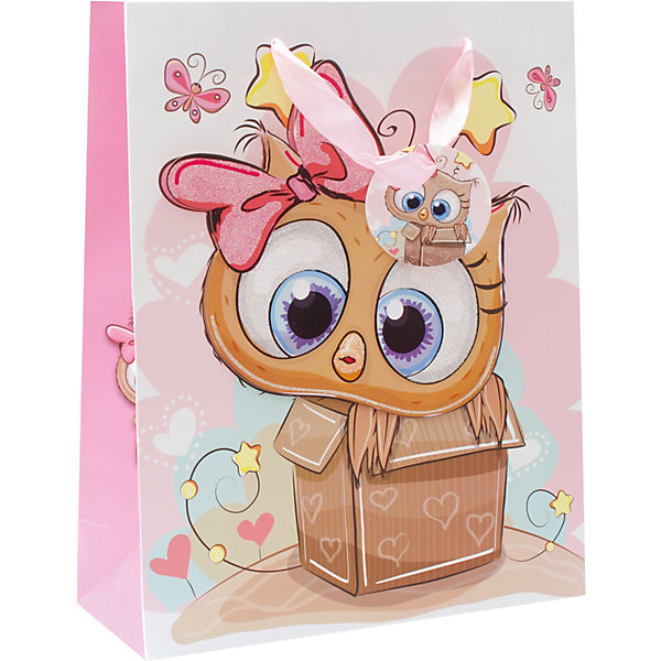 Пакет Сова в коробке 26*32*12 смДетские подарочные пакеты<br>Характеристики товара:<br><br>• размер пакета: 26х12х32 см;<br>• материал: бумага, текстиль;<br>• толщина бумаги: 210 г/м2;<br>• цвет: коричневый/розовый;<br>• размер упаковки: 37х27х1 см;<br>• страна бренда: Россия.<br><br>С праздничной упаковкой «Сова в коробке» любой подарок станет оригинальным и запоминающимся. На пакете изображена милая сова, выглядывающая из маленькой коробки. Яркий розовый бант на голове совы оформлен эффектом блесток. Пакет изготовлен из бумаги толщиной 210 г/м2 с качественной печатью. Широкие текстильные ручки позволяют удобно переносить пакет.<br><br>Пакет «Сова в коробке» 26*32*12 см, Белоснежка можно купить в нашем интернет-магазине.<br>Ширина мм: 260; Глубина мм: 120; Высота мм: 320; Вес г: 67; Возраст от месяцев: 36; Возраст до месяцев: 2147483647; Пол: Унисекс; Возраст: Детский; SKU: 7454260;