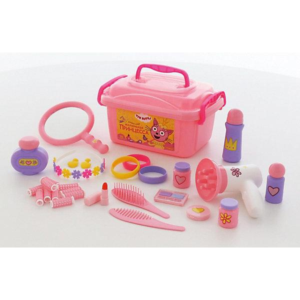 Салон красоты Полесье Три кота. Принцессы, в контейнере, розовыйСалон красоты<br>Характеристики товара:<br><br>• возраст: от 3 лет;<br>• в комплекте:<br>- расчески - 2 шт.,<br>- обруч для волос - 1 шт.,<br>- бигуди с фиксаторами - 10 шт.,<br>- браслеты - 3 шт.,<br>- клипсы - 1 пара,<br>- зеркало - 1 шт.,<br>- фен – 1 шт.,<br>- имитация пудры – 1 шт.,<br>- имитация теней для век – 1шт.,<br>- имитация помады – 1 шт.,<br>- имитация флакончиков с косметическими средствами – 4 шт.<br>• материал: пластик.<br>• размер упаковки: 28,5х19,5х15,5 см;<br>• упаковка: контейнер ;<br>• страна бренда: Беларусь.<br><br>Теперь озорные котята из мультфильма «Три кота» будут радовать детей во время игр с набором доктора от фабрики «Полесье».<br><br>Игрушки упакованы в чемоданчик-шкатулку, куда юная модница может поместить и другие свои аксессуары для волос. С набором Три Кота Принцессы девочки могут организовать свой салон красоты или парикмахерскую, тем самым развивать воображение и фантазию.<br><br>«Три кота» рассказывают о повседневной жизни маленьких, но очень любознательных котят: Коржика, Компота и их младшей сестренки Карамельки.<br><br>Набор «Три кота» «Принцессы» , можно приобрести в нашем интернет-магазине.<br>Ширина мм: 285; Глубина мм: 195; Высота мм: 155; Вес г: 608; Возраст от месяцев: 36; Возраст до месяцев: 2147483647; Пол: Женский; Возраст: Детский; SKU: 7455117;