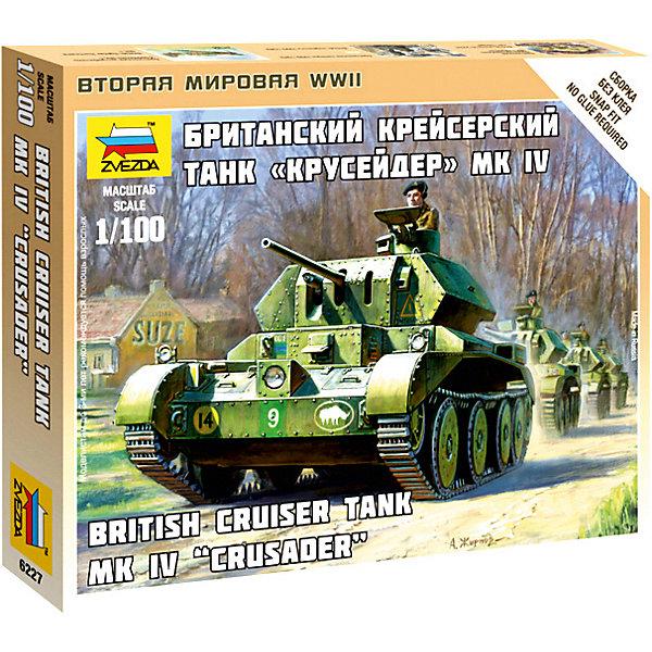 Сборная модель  Британский крейсерский танк КрусерВоенная техника и панорама<br>Характеристики:<br><br>• возраст: от 7 лет;<br>• материал: пластик;<br>• масштаб: 1:100;<br>• количество элементов: 8;<br>• клей и краски: не в комплекте;<br>• в наборе: танк, флаг отряда, карточка отряда;<br>• длина модели: 6 см;<br>• вес упаковки: 50 гр.;<br>• размер упаковки: 12х14,5х2 см;<br>• страна производитель: Россия.<br><br>Чтобы собрать модель Zvezda «Британский крейсерский танк Крусер» не понадобится клей. Элементы надежно скрепляются между собой. Каждая деталь легко и без повреждений отсоединяется от литника. Модель можно раскрасить по цветам из инструкции.<br><br>Сборка улучшает внимательность, мелкую моторику и пространственное мышление. Готовая фигурка является частью игровой системы Art of Tactic «Вторая Мировая», выглядит реалистично и отличается прочностью. Набор понравится не только игрокам, но и моделистам-коллекционерам. Набор выполнен из качественных безопасных материалов.<br><br>Сборную модель «Британский крейсерский танк Крусер» можно купить в нашем интернет-магазине.<br><br>Ширина мм: 145<br>Глубина мм: 120<br>Высота мм: 20<br>Вес г: 50<br>Возраст от месяцев: 84<br>Возраст до месяцев: 2147483647<br>Пол: Унисекс<br>Возраст: Детский<br>SKU: 7459673