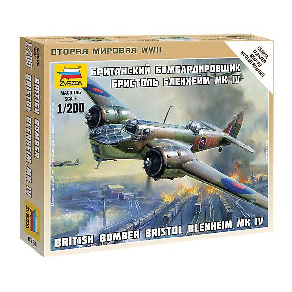 Сборная модель  Британский бомбардировщик Бристол БлэнхеймВоенная техника и панорама<br>Характеристики:<br><br>• возраст: от 7 лет;<br>• материал: пластик;<br>• масштаб: 1:200;<br>• количество элементов: 20;<br>• клей и краски: не в комплекте;<br>• в наборе: самолет, подставка, декаль;<br>• длина модели: 6,5 см;<br>• вес упаковки: 50 гр.;<br>• размер упаковки: 12х14,5х2 см;<br>• страна производитель: Россия.<br><br>Чтобы собрать модель Zvezda «Британский бомбардировщик Бристол Блэнхейм» не понадобится клей. Элементы надежно скрепляются между собой. Каждая деталь легко и без повреждений отсоединяется от литника. Модель можно раскрасить по цветам из инструкции.<br><br>Сборка улучшает внимательность, мелкую моторику и пространственное мышление. Готовая фигурка является частью игровой системы Art of Tactic «Вторая Мировая», выглядит реалистично и отличается прочностью. Набор понравится не только игрокам, но и моделистам-коллекционерам. Набор выполнен из качественных безопасных материалов.<br><br>Сборную модель «Британский бомбардировщик Бристол Блэнхейм» можно купить в нашем интернет-магазине.<br>Ширина мм: 145; Глубина мм: 120; Высота мм: 20; Вес г: 50; Возраст от месяцев: 84; Возраст до месяцев: 2147483647; Пол: Унисекс; Возраст: Детский; SKU: 7459687;