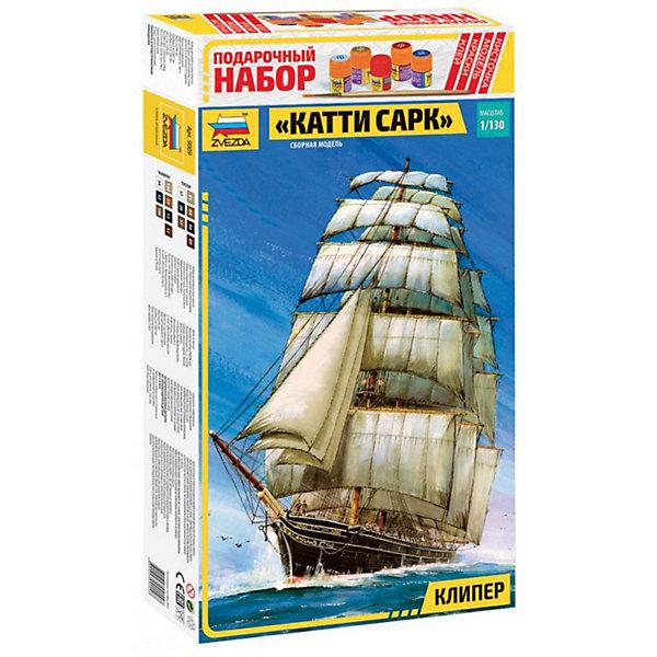 Сборная модель  Корабль Катти СаркКорабли и подводные лодки<br>Характеристики:<br><br>• возраст: от 10 лет;<br>• материал: пластик;<br>• масштаб: 1:130;<br>• клей, краски, кисточка: в комплекте;<br>• вес упаковки: 980 гр.;<br>• размер упаковки: 34,7х48,7х8,5 см;<br>• страна производитель: Россия.<br><br>Модель для сборки Zvezda «Корабль Катти Сарк» детально изображает одноименный парусник. Каждый элемент легко и без повреждений отсоединяется от литника. В подарочном наборе есть все необходимое, чтобы создать завершенный образ судна.<br><br>Сборка улучшает внимательность, мелкую моторику и пространственное мышление. Понятная поэтапная инструкция поможет собрать точную копию прототипа.<br><br>Готовая модель выглядит максимально реалистично, подходит для тематических игр и станет достойной частью коллекции. Набор выполнен из качественных материалов, соответствующих стандартам безопасности.<br><br>Сборную модель «Корабль Катти Сарк» можно купить в нашем интернет-магазине.<br>Ширина мм: 347; Глубина мм: 487; Высота мм: 85; Вес г: 980; Возраст от месяцев: 84; Возраст до месяцев: 2147483647; Пол: Унисекс; Возраст: Детский; SKU: 7459843;