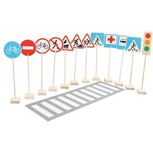 Игровой набор Краснокамская игрушка Знаки дорожного движенияДорожные знаки и коврики<br>Характеристики товара:<br><br>• возраст: от 3 лет;<br>• из чего сделана игрушка (состав): дерево, пластик, ПВХ;<br>• комплект: 12 фанерных табличек, 12 подставок, 12 палочек держателей, 13 наклеек с дорожными знаками, пешеходная дорожка;<br>• размер 1 знака: 23х23х80 см.;<br>• длина клеенки: 1500 см.;<br>• размер упаковки: 47х64х8,5 см.;<br>• ширина пешеходной дорожки: 50 см.;<br>• вес: 8,187 кг.;<br>• упаковка: картонная коробка;<br>• страна обладатель бренда: Россия.<br><br>«Знаки дорожного движения» от компании «Краснокамская игрушка» это напольный набор, с которым ребенок не только выучит названия знаков дорожного движения, но и запомнит как они выглядят.<br><br>Предметы, входящие в комплект пояснят какой знак что обозначает, на какой свет светофора нужно идти, на каком необходимо стоять, а на каком готовиться к движению. Кроме того, ребенок узнает, что такое дорожная зебра и как ею пользоваться.<br><br>Все элементы сделаны невероятно реалистично - это очень важно, чтобы ребенок не путался, увидев такие знаки на улице. Кроме того, что с набором играть полезно - это еще и очень увлекательно и интересно.<br><br>Набор «Знаки дорожного движения» можно купить в нашем интернет-магазине.<br><br>Ширина мм: 470<br>Глубина мм: 640<br>Высота мм: 85<br>Вес г: 8187<br>Возраст от месяцев: 36<br>Возраст до месяцев: 2147483647<br>Пол: Унисекс<br>Возраст: Детский<br>SKU: 7460709