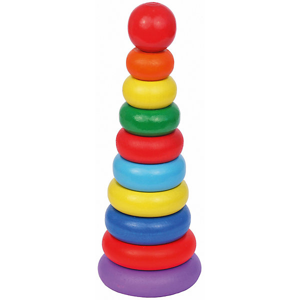 Деревянная пирамидка Краснокамская игрушка Кольцевая новаяДеревянные игрушки<br>Характеристики товара:<br><br>• возраст: от 1 года;<br>• из чего сделана игрушка (состав): пластик;<br>• комплектация: 10 элементов игрушки-пирамидки.;<br>• высота пирамидки: 21 см.;<br>• диаметр основания: 7 см.; <br>• размер упаковки: 25,5х10,5х10,5 см.;<br>• вес: 361 гр.;<br>• упаковка: картонная коробка;<br>• страна обладатель бренда: Россия.<br><br>Яркая игрушка-пирамидка «Кольцевая», несомненно, заинтересует вашего малыша. <br><br>Пирамидка состоит из основания со штырьком, на который нанизываются восемь цветных колец разных диаметров и верхушка в виде большого красного шарика.<br><br>Игры с пирамидкой развивают у малышей мелкую моторику рук, координацию движений, знакомят с понятиями формы, цвета и размера предмета.<br><br>Пирамидку «Кольцевая» можно купить в нашем интернет-магазине.<br><br>Ширина мм: 255<br>Глубина мм: 105<br>Высота мм: 105<br>Вес г: 361<br>Возраст от месяцев: 12<br>Возраст до месяцев: 2147483647<br>Пол: Унисекс<br>Возраст: Детский<br>SKU: 7460714