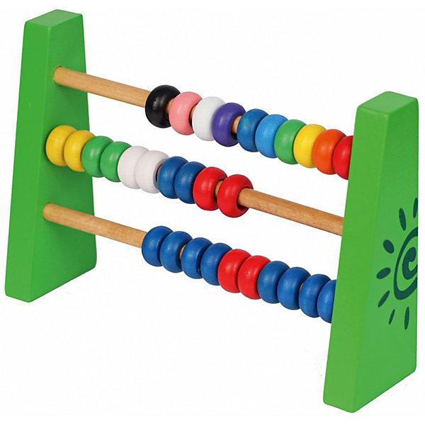 Деревянная счеты Краснокамская игрушка Счетики-радугаДеревянные игрушки<br>Характеристики товара:<br><br>• возраст: от 3 лет;<br>• из чего сделана игрушка (состав): дерево;<br>• размер упаковки: 22х24х6,5 см.;<br>• вес: 321 гр.;<br>• упаковка: картонная коробка;<br>• страна обладатель бренда: Россия.<br><br>Деревянные счеты «Счетики-радуга» от бренда «Краснокамская игрушка» помогут малышу научиться считать. <br><br>Ребенку будет интересно пользоваться счетами, так как его обязательно привлекут яркий цвет игрушки и приятные по форме элементы и он легко запомнит простые азы арифметики, выучит названия цветов и многие другие слова, связанные с математикой.<br><br>Обучающую игру «Счетики-радуга» можно купить в нашем интернет-магазине.<br>Ширина мм: 220; Глубина мм: 240; Высота мм: 65; Вес г: 321; Возраст от месяцев: 36; Возраст до месяцев: 2147483647; Пол: Унисекс; Возраст: Детский; SKU: 7460715;