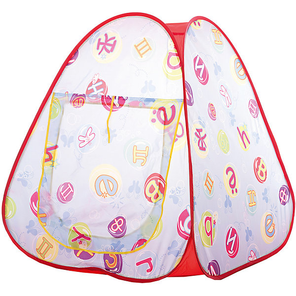 Игровая палатка Shantou Gepai Алфавит, в сумкеИгровые центры<br>Характеристики товара:<br><br>• возраст: от 3 лет;<br>• цвет: голубой;<br>• размер палатки: 73х71х83 см.;<br>• состав: вининил, пластик;<br>• размер упаковки: 32х5х33 см.;<br>• вес в упаковке: 680 гр.;<br>• упаковка: текстильная сумка с ручками;<br>• бренд, страна: Shantou Gepai, Китай;<br>• страна-производитель: Китай.<br><br>Палатка игровая «Алфавит» от торговой марки Shantou - это великолепное развлечение для детей, поскольку оно позволит им ощутить удовольствие от обладания собственным жилищем. Это отличный выбор для родителей , которые хотят по-настоящему осчастливить своих малышей.<br><br>Оригинальная расцветка в виде алвафита поможет быстрее и нагляднее запомнить буквы. Палатка оснащена входом, закрывать его можно специальной шторкой на липучках. На противоположной стороне расположена большая прозрачная мелкоячеистая вставка, сквозь которую родители смогут наблюдать за действиями ребенка. Вставка, имитирующая окошко, послужит отличной вентиляцией, а также предотвратит попадание насекомых внутрь палатки.<br><br>Палатка идеально подходит для сюжетно-ролевых игр на свежем воздухе или в помещении. В ней одновременно могут поместиться несколько малышей. Палатка сделан из водонепроницаемой ткани, он легко моется в случае необходимости. Очень проста в установке - сама разворачивается за счет каркаса-спирали, есть пол. Схема сборки в изначальное состояние прилагается.<br><br>Ассортимент товаров Shantou, сочетая превосходное качество, яркий и уникальный дизайн,  по праву получил признание миллионов покупателей во всем мире.<br><br>Палатку игроваую «Алфавит», 73х71х83 см., Shantou можно купить в нашем интернет-магазине.<br><br>Ширина мм: 330<br>Глубина мм: 45<br>Высота мм: 320<br>Вес г: 740<br>Возраст от месяцев: 36<br>Возраст до месяцев: 2147483647<br>Пол: Унисекс<br>Возраст: Детский<br>SKU: 7460849