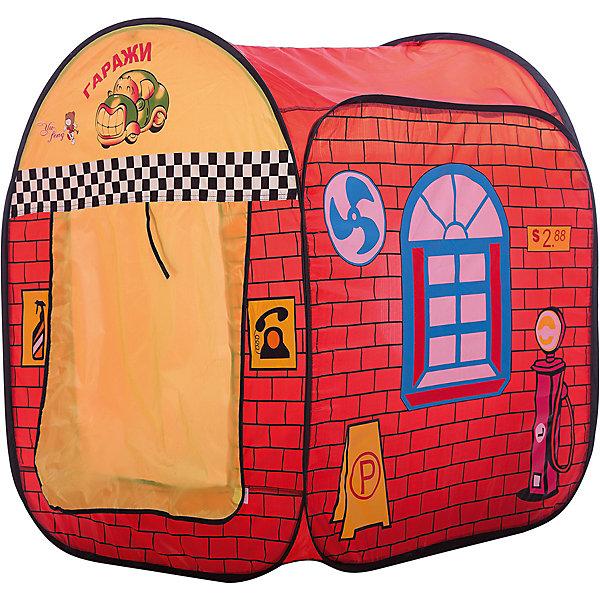 Игровая палатка Shantou Gepai Гаражи, в сумкеИгровые центры<br>Характеристики товара:<br><br>• возраст: от 3 лет;<br>• цвет: мультиколор;<br>• размер палатки: 80х70х80 см.;<br>• состав: пластик, полиэстер;<br>• размер упаковки: 36х6х36 см.;<br>• вес в упаковке: 800 гр.;<br>• упаковка: текстильная сумка с ручками;<br>• бренд, страна: Shantou Gepai, Китай;<br>• страна-производитель: Китай.<br><br>Палатка игровая «Гараж» от торговой марки Shantou - это великолепное развлечение для детей, поскольку оно позволит им ощутить удовольствие от обладания собственным жилищем. Это отличный выбор для родителей , которые хотят по-настоящему осчастливить своих малышей.<br><br>Палатка изготовлена специально для мальчиков, ведь на ней изображена машинка, а также инструменты. Рисунки делают помещение для игр похожим на стилизованный гараж. Тент легко складывается в удобною сумку с ручками, которую можно брать с собой на дачу, чтобы малыш мог и там поиграть в своем любимом гараже. Яркая расцветка данной палатки привлечет внимание малыша. Из палатки легко выходить, приподняв шторку.<br><br>Палатка идеально подходит для сюжетно-ролевых игр на свежем воздухе или в помещении. В ней одновременно могут поместиться несколько малышей. Палатка сделана из водонепроницаемой ткани, он легко моется в случае необходимости. Очень проста в установке - сама разворачивается за счет каркаса-спирали, есть пол. Схема сборки в изначальное состояние прилагается.<br><br>Ассортимент товаров Shantou, сочетая превосходное качество, яркий и уникальный дизайн,  по праву получил признание миллионов покупателей во всем мире.<br><br>Палатку игровую «Гараж», 80х70х80 см., Shantou можно купить в нашем интернет-магазине.<br>Ширина мм: 350; Глубина мм: 50; Высота мм: 365; Вес г: 800; Возраст от месяцев: 36; Возраст до месяцев: 2147483647; Пол: Мужской; Возраст: Детский; SKU: 7460851;
