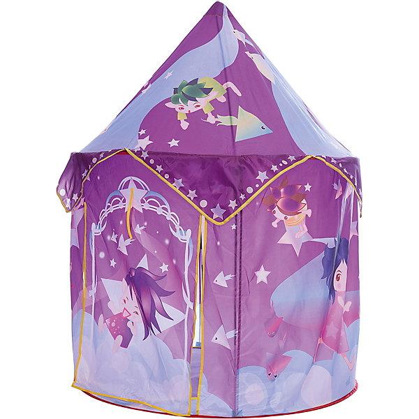 Игровая палатка Shantou Gepai Маленькие волшебники, в сумкеИгровые центры<br>Характеристики товара:<br><br>• возраст: от 3 лет;<br>• размер палатки: 100х100х135 см.;<br>• цвет: фиолетовый;<br>• состав: текстиль, пластик, металл;<br>• размер упаковки: 43х7х41 см.;<br>• вес в упаковке: 1,2 кг.;<br>• упаковка: текстильная сумка с ручками;<br>• бренд, страна: Shantou Gepai, Китай;<br>• страна-производитель: Китай.<br><br>Палатка игровая «Маленькие волшебники» от торговой марки Shantou - это красочная разноцветная палатка, которая может послужить прекрасным домиком для игр малыша.Палатка станет очень хорошим подарком. Препровождение в палатке научит ребенка адаптироваться в любой среде, научит быть самостоятельным и организованным.<br><br>Нежная цветовая гамма и изображения маленьких фей говорит о том, что палатка больше предназначена для девочек. Палатка выглядит как небольшой сказочный шатер, ее очень легко складывать и брать с собой на природу. Палатка оснащена входом, закрывать его можно специальной шторкой на липучках.<br><br>Палатка идеально подходит для сюжетно-ролевых игр на свежем воздухе или в помещении. В ней одновременно могут поместиться несколько малышей. Палатка сделана из водонепроницаемой ткани, он легко моется в случае необходимости. Очень проста в установке - сама разворачивается за счет каркаса-спирали, есть пол. Схема сборки в изначальное состояние прилагается.<br><br>Ассортимент товаров Shantou, сочетая превосходное качество, яркий и уникальный дизайн,  по праву получил признание миллионов покупателей во всем мире.<br><br>Палатку игровую «Маленькие волшебники», 100х100х135 см., Shantou можно купить в нашем интернет-магазине.<br>Ширина мм: 430; Глубина мм: 70; Высота мм: 410; Вес г: 1270; Возраст от месяцев: 36; Возраст до месяцев: 2147483647; Пол: Женский; Возраст: Детский; SKU: 7460855;