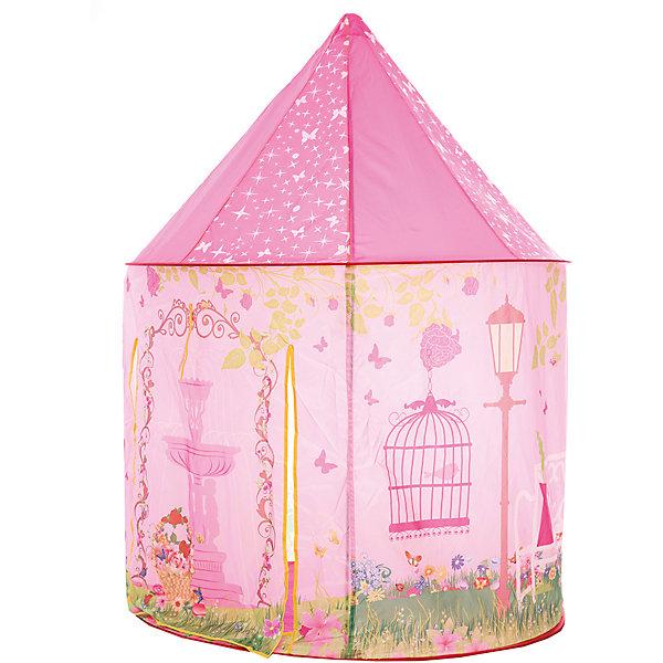 Игровая палатка Shantou Gepai Розовая мечта, в сумкеИгровые центры<br>Характеристики товара:<br><br>• возраст: от 3 лет;<br>• размер палатки: 100х100х135 см.;<br>• цвет: розовый;<br>• состав: текстиль, пластик, металл;<br>• размер упаковки: 44х7х41 см.;<br>• вес в упаковке: 1,2 кг.;<br>• упаковка: текстильная сумка с ручками;<br>• бренд, страна: Shantou Gepai, Китай;<br>• страна-производитель: Китай.<br><br>Палатка игровая «Розовая мечта» от торговой марки Shantou - это красочная разноцветная палатка, которая может послужить прекрасным домиком для игр малыша.Палатка станет очень хорошим подарком. Препровождение в палатке научит ребенка адаптироваться в любой среде, научит быть самостоятельным и организованным.<br><br>Нежная цветовая гамма и изображения маленькой принцессы у фонтана на лужайке говорит о том, что палатка больше предназначена для девочек. Палатка выглядит как небольшой сказочный шатер, ее очень легко складывать и брать с собой на природу. Палатка оснащена входом, закрывать его можно специальной шторкой на липучках.<br><br>Палатка идеально подходит для сюжетно-ролевых игр на свежем воздухе или в помещении. В ней одновременно могут поместиться несколько малышей. Палатка сделана из водонепроницаемой ткани, он легко моется в случае необходимости. Очень проста в установке - сама разворачивается за счет каркаса-спирали, есть пол. Схема сборки в изначальное состояние прилагается.<br><br>Ассортимент товаров Shantou, сочетая превосходное качество, яркий и уникальный дизайн,  по праву получил признание миллионов покупателей во всем мире.<br><br>Палатку игровую «Розовая мечта», 100х100х135 см., Shantou можно купить в нашем интернет-магазине.<br>Ширина мм: 440; Глубина мм: 70; Высота мм: 410; Вес г: 1240; Возраст от месяцев: 36; Возраст до месяцев: 2147483647; Пол: Женский; Возраст: Детский; SKU: 7460860;