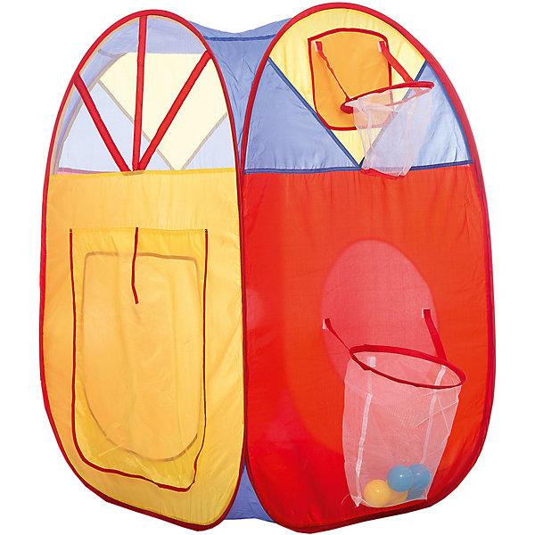 Игровая палатка Shantou Gepai с кольцом и корзиной, в сумкеИгровые центры<br>Характеристики товара:<br><br>• возраст: от 3 лет;<br>• размер палатки: 76х73х110 см.;<br>• цвет: мультиколор;<br>• состав: вининил, пластик;<br>• размер упаковки: 39х7х38 см.;<br>• вес в упаковке: 980 гр.;<br>• упаковка: текстильная сумка;<br>• бренд, страна: Shantou Gepai, Китай;<br>• страна-производитель: Китай.<br><br>Палатка игровая с кольцом и корзиной «Cary Bear» от торговой марки Shantou - это красочная разноцветная палатка, которая может послужить прекрасным домиком для активных игр малыша.Палатка станет очень хорошим подарком. Препровождение в палатке научит ребенка адаптироваться в любой среде, научит быть самостоятельным и организованным.<br><br>Данная игровая палатка оснащена корзинкой, расположенной под баскетбольным кольцом, и пологом, который выполняет функцию двери. Дети могут тренироваться в меткости, кидая мячики в кольцо (Внимание! Шарики приобретаются отдельно.) В этой палатке ребенок сможет устроить штаб-квартиру, играть, заниматься и даже спать. Также в одной из стенок трехцветной палатки есть небольшое отверстие, через которое можно передавать маленькие предметы внутрь и наружу.<br><br>Палатка идеально подходит для сюжетно-ролевых игр на свежем воздухе или в помещении. Палатка сделана из водонепроницаемой ткани, он легко моется в случае необходимости. Очень проста в установке - сама разворачивается за счет каркаса-спирали, есть пол. Схема сборки в изначальное состояние прилагается.<br><br>Ассортимент товаров Shantou, сочетая превосходное качество, яркий и уникальный дизайн,  по праву получил признание миллионов покупателей во всем мире.<br><br>Палатку игровую с кольцом и корзиной «Cary Bear» , 76х73х110 см., Shantou можно купить в нашем интернет-магазине.<br>Ширина мм: 390; Глубина мм: 70; Высота мм: 380; Вес г: 980; Возраст от месяцев: 36; Возраст до месяцев: 2147483647; Пол: Унисекс; Возраст: Детский; SKU: 7460861;