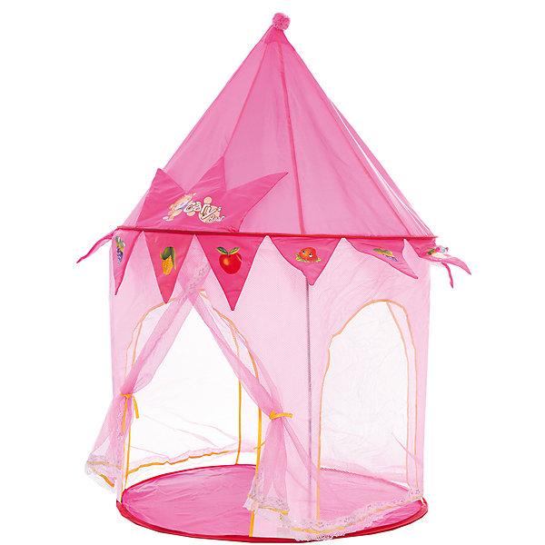 Игровая палатка Shantou Gepai Сказочная, в сумкеИгровые центры<br>Характеристики товара:<br><br>• возраст: от 3 лет;<br>• размер палатки: 85х85х125 см.;<br>• цвет: розовый;<br>• состав: текстиль, пластик, металл;<br>• размер упаковки: 36х6х36 см.;<br>• вес в упаковке: 1,2 кг.;<br>• упаковка: текстильная сумка с ручками;<br>• бренд, страна: Shantou Gepai, Китай;<br>• страна-производитель: Китай.<br><br>Палатка игровая «Сказочная» от торговой марки Shantou - это красочная разноцветная палатка, которая может послужить прекрасным домиком для игр малыша.Палатка станет очень хорошим подарком. Препровождение в палатке научит ребенка адаптироваться в любой среде, научит быть самостоятельным и организованным.<br><br>Палатка украшена фруктами и ягодами, а также тканевой короной с изображением маленького мишки и надписью Cary Bear. Купол домика достаточно высокий, внутри могут спокойно уместиться две девочки. Палатка выглядит как небольшой сказочный шатер, ее очень легко складывать и брать с собой на природу. Палатка оснащена входом, закрывать его можно специальной шторкой на липучках.<br><br>Палатка идеально подходит для сюжетно-ролевых игр на свежем воздухе или в помещении. Палатка сделана из водонепроницаемой ткани, он легко моется в случае необходимости. Очень проста в установке - сама разворачивается за счет каркаса-спирали, есть пол. Схема сборки в изначальное состояние прилагается.<br><br>Ассортимент товаров Shantou, сочетая превосходное качество, яркий и уникальный дизайн,  по праву получил признание миллионов покупателей во всем мире.<br><br>Палатку игровую «Сказочная», 85х85х125 см., Shantou можно купить в нашем интернет-магазине.<br><br>Ширина мм: 360<br>Глубина мм: 60<br>Высота мм: 360<br>Вес г: 1290<br>Возраст от месяцев: 36<br>Возраст до месяцев: 2147483647<br>Пол: Женский<br>Возраст: Детский<br>SKU: 7460862