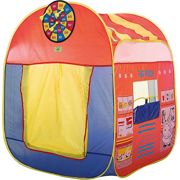Игровая палатка Shantou Gepai Фастфуд, в сумкеИгровые центры<br>Характеристики товара:<br><br>• возраст: от 3 лет;<br>• размер палатки: 94х94х1116 см.;<br>• цвет: розовый;<br>• состав: текстиль, пластик, металл;<br>• размер упаковки: 43х6х43 см.;<br>• вес в упаковке: 1,2 кг.;<br>• упаковка: текстильная сумка с ручками;<br>• бренд, страна: Shantou Gepai, Китай;<br>• страна-производитель: Китай.<br><br>Палатка игровая «Фастфуд» от торговой марки Shantou - это красочная разноцветная палатка, которая может послужить прекрасным домиком для игр малыша.Палатка станет очень хорошим подарком. Препровождение в палатке научит ребенка адаптироваться в любой среде, научит быть самостоятельным и организованным.<br><br>Игровая палатка позволит ребенку почувствовать себя хозяином магазина, у которого есть богатый прилавок и окошко для продажи фастфудов. У домика квадратный пол и округлая крыша. Двери палатки можно поднимать, что усиливает проветривание помещения, а затем закрывать на замочек - липучки. Палатка снабжена окошками-сеточками. <br><br>Палатка идеально подходит для сюжетно-ролевых игр на свежем воздухе или в помещении. Палатка сделана из водонепроницаемой ткани, он легко моется в случае необходимости. Очень проста в установке - сама разворачивается за счет каркаса-спирали, есть пол. Схема сборки в изначальное состояние прилагается.<br><br>Ассортимент товаров Shantou, сочетая превосходное качество, яркий и уникальный дизайн,  по праву получил признание миллионов покупателей во всем мире.<br><br>Палатку игровую «Фастфуд», 94х94х116 см., Shantou можно купить в нашем интернет-магазине.<br>Ширина мм: 430; Глубина мм: 60; Высота мм: 430; Вес г: 1240; Возраст от месяцев: 36; Возраст до месяцев: 2147483647; Пол: Унисекс; Возраст: Детский; SKU: 7460863;