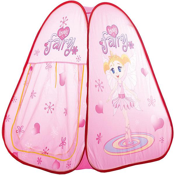Игровая палатка Shantou Gepai Фея, в сумкеИгровые центры<br>Характеристики товара:<br><br>• возраст: от 3 лет;<br>• размер палатки: 73х71х83 см.;<br>• цвет: розовый;<br>• состав: вининил, пластик;<br>• размер упаковки: 33х5х33 см.;<br>• вес в упаковке: 740 гр.;<br>• упаковка: текстильная сумка с ручками;<br>• бренд, страна: Shantou Gepai, Китай;<br>• страна-производитель: Китай.<br><br>Палатка игровая «Фея» от торговой марки Shantou - это великолепное развлечение для детей, поскольку оно позволит им ощутить удовольствие от обладания собственным жилищем. <br><br>Нежная цветовая гамма и изображение прекрасной феи говорит о том, что палатка больше предназначена для девочек. Палатка оснащена входом, закрывать его можно специальной шторкой на липучках. На противоположной стороне расположена большая прозрачная мелкоячеистая вставка, сквозь которую родители смогут наблюдать за действиями ребенка. Вставка, имитирующая окошко, послужит отличной вентиляцией, а также предотвратит попадание насекомых внутрь палатки.<br><br>Палатка идеально подходит для сюжетно-ролевых игр на свежем воздухе или в помещении. В ней одновременно могут поместиться несколько малышей. Палатка сделан из водонепроницаемой ткани, он легко моется в случае необходимости. Очень проста в установке - сама разворачивается за счет каркаса-спирали, есть пол. Схема сборки в изначальное состояние прилагается.<br><br>Ассортимент товаров Shantou, сочетая превосходное качество, яркий и уникальный дизайн,  по праву получил признание миллионов покупателей во всем мире.<br><br>Палатку игроваую «Фея», 73х71х83 см., Shantou можно купить в нашем интернет-магазине.<br>Ширина мм: 330; Глубина мм: 50; Высота мм: 330; Вес г: 740; Возраст от месяцев: 36; Возраст до месяцев: 2147483647; Пол: Женский; Возраст: Детский; SKU: 7460864;