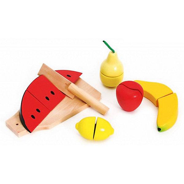 Игровой набор для нарезки Altacto ФруктыИгрушечные продукты питания<br>Характеристики товара:<br><br>• возраст: от 1 года;<br>• в комплекте: 5 видов деревянных фруктов (арбуз, банан, яблоко, груша, лимон), игрушечный нож и доска для резки;<br>• материал: натуральное дерево и экологически чистые красители;<br>• размер упаковки: 19х16х6 см;<br>• вес: 450 гр.;<br>• страна обладатель бренда: Китай.<br><br>Малыша несомненно приведет в восторг нарезание сочных плодов для приготовления собственного десертного блюда! Игра способствует развитию творческого и логического мышления ребёнка, развивает мелкую и крупную моторику движений.<br><br>Фрукты детского набора выглядят аппетитно и абсолютно правдоподобно, благодаря ярким, насыщенным цветам и реалистичным формам, так и хочется их попробовать! Ваш малыш будет соприкасаться только с качественными и безопасными материалами, которые сертифицированы и соответствуют российским стандартам качества. Для удобства нарезки фруктового десерта в наборе предусмотрены: игрушечный нож и доска для резки.<br><br>Набор нарезки «Фрукты» от бренда Altacto можно приобрести в нашем интернет-магазине.<br>Ширина мм: 190; Глубина мм: 160; Высота мм: 60; Вес г: 450; Возраст от месяцев: 12; Возраст до месяцев: 2147483647; Пол: Женский; Возраст: Детский; SKU: 7461021;