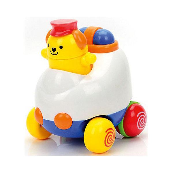 Инерционная игрушка  Автомобильчик, MioshiМашинки<br>Характеристики товара:<br><br>• возраст: от 1 года;<br>• материал: пластик;<br>• упаковка: картонная коробка;<br>• размер упаковки: 12,8х12,8х12,8 см;<br>• вес: 227 гр.;<br>• бренд, страна: Mioshi Baby, Китай;<br>• страна-производитель: Китай.<br><br>Инерционная игрушка «Автомобильчик» - поможет вашему крохе научится фокусировать внимание, даст первые представления о категориях формы и цвета, поспособствует развитию слуха, зрения и мелкой моторики.<br><br>Красивый автомобильчик с инерционным механизмом обязательно порадует ребенка своми особенностями и дизайном. Стоит немного откатить назад игрушку и, она тут же покатится вперед. <br><br>Игрушка изготовлена из современных и гипоаллергенных материалов.<br><br>Инерционную игрушку «Автомобильчик» от Mioshi Baby можно купить в нашем интернет-магазине.<br>Ширина мм: 128; Глубина мм: 128; Высота мм: 128; Вес г: 227; Возраст от месяцев: 12; Возраст до месяцев: 2147483647; Пол: Унисекс; Возраст: Детский; SKU: 7461023;